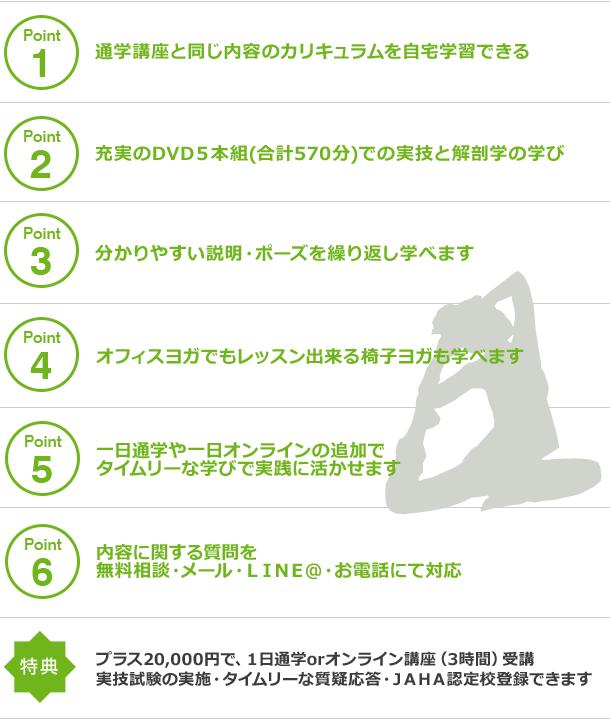 骨盤スリムヨガ® インストラクター養成【通信講座】特徴
